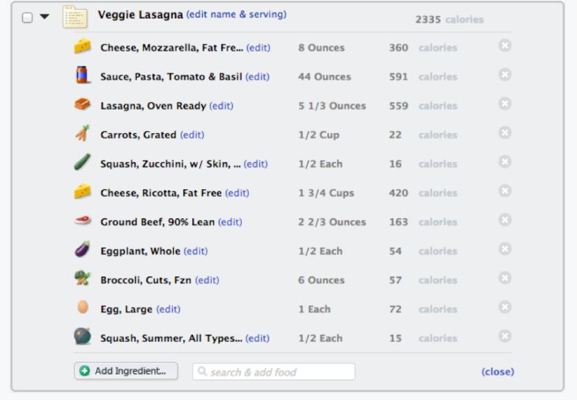 How to Create Recipe Veggie Lasagna Ingredients