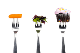 carrot salad cupcake on forks iStock_000015965526Large